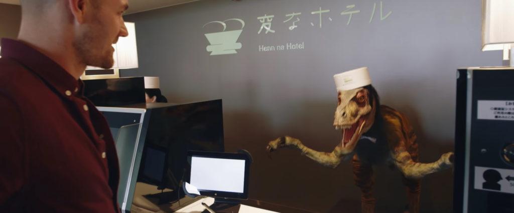 Les robots du Henn-na hotel au Japon